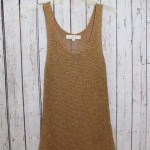 Loft copper color, sparkly tank top sweater